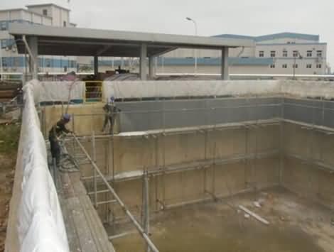 污水池防腐聚脲喷涂施工案例